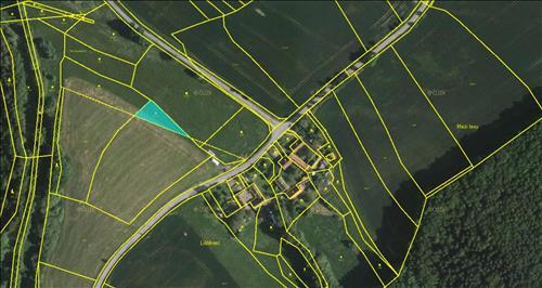 Pozemek 864m2, Bystřice u Benešova, okres Benešov