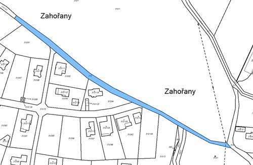 Orná půda 1759 m2, k.ú. Zahořany u Mníšku pod Brdy, obec Zahořany, okres Praha-západ