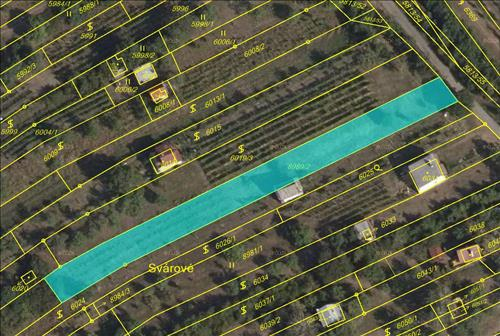 Pozemek o celkové ploše 1.342 m2, k.ú. Strážnice na Moravě, okres Hodonín