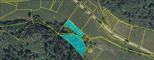 Pozemek o výměře 5.842 m2 v obci Brloh, k.ú. Jaronín-Kuklov, okres Český Krumlov