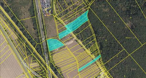 Soubor pozemků na okraji Brna vhodných na investici o celkové ploše 8063m2, k.ú. Lelekovice, Brno-venkov