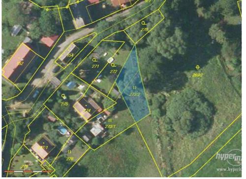 Pozemek 371m2, k.ú. Heřmanice u Žandova, obec Žandov, okres Česká Lípa