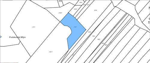 Prodej orné půdy, výměra 1.719m2, k.ú. Tulešice, okres Znojmo