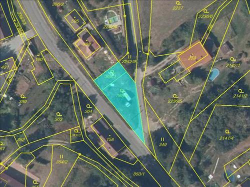 Stavební pozemek 463 m2, k.ú. Hnátnice, okres Ústí nad Orlicí