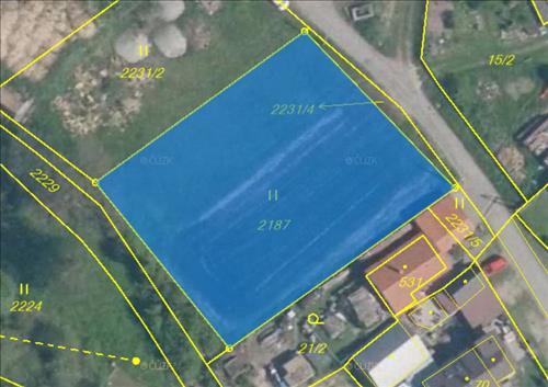 Prodej stavebního pozemku o výměře 1.557m2, nacházející se v okrese Jihlava, k.ú. Dvorce u Jihlavy