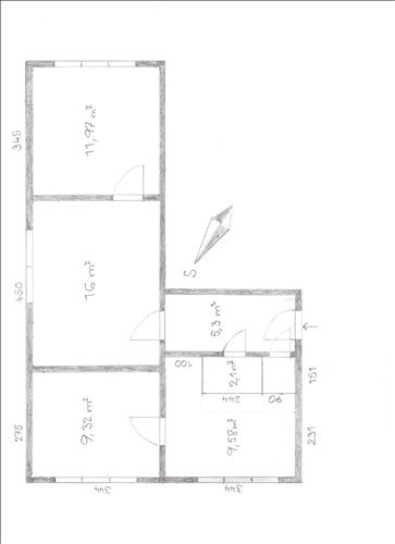 Prodej DB o dispozici 3+1, 55m2, nacházející se k.ú. Nový Bohumín, okres Karviná
