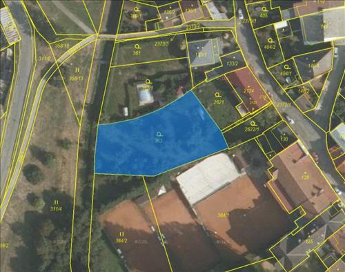 Prodej stavebního pozemku o výměře 1.582m2, k.ú. Polná, okres Jihlava