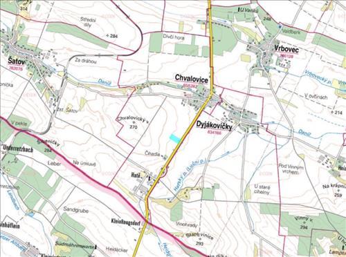Prodej 1/2 orné půdy o celkové výměře 44.300m2, k.ú. Chvalovice, okres Znojmo