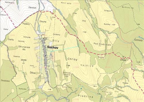 Prodej souboru pozemků o výměře 6.417m2, k.ú. Suchov, obec Suchov, okres Hodonín