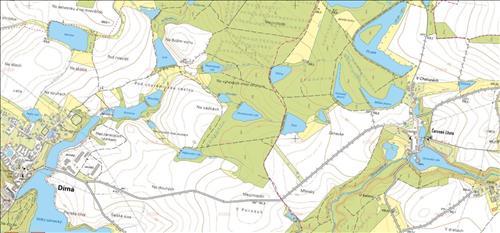 Prodej pozemku o výměře 1.115m2, k.ú. Dírná, obec Dírná, okres Tábor